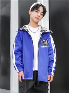 动漫童话男童新款蓝色外套