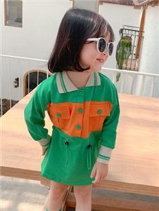 賓果童話新款綠色時尚衛衣