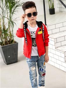 賓果童話紅色時尚外套