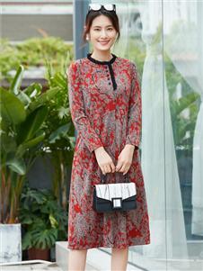 夢莎奴時尚印花裙