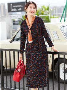 夢莎奴新款波點連衣裙