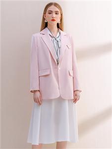 艾麗哲新款粉色西服外套