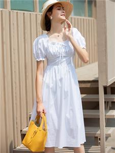 TEME缇蜜白色连衣裙