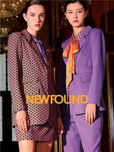 2021紐方秋裝紫色西裝套裝