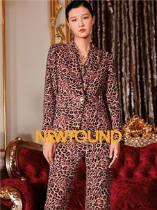 2021紐方秋裝時尚豹紋套裝