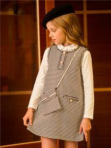 鉛筆俱樂部新款格子連衣裙