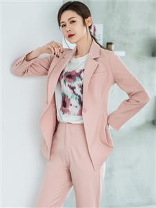 2021三弗秋裝粉色西裝套裝