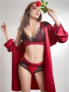 萊特妮絲新款紅色文胸套裝
