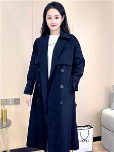 艾諾綺秋冬新款風衣外套