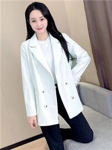 艾諾綺秋冬新款純色西服