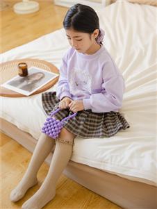 西瓜王子紫色圆领卫衣