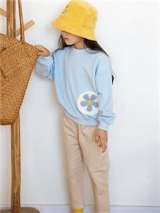西瓜王子蓝色花朵时尚卫衣