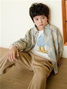 西瓜王子童装西瓜王子新款方块格子外套