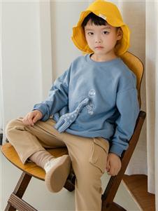 西瓜王子童装西瓜王子新款蓝色卫衣