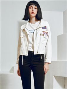 2021尼赫菲秋裝白色外套