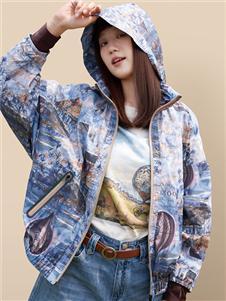 丽迪莎新款印花外套