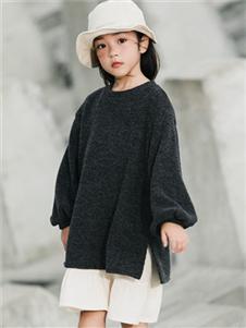 2021小嗨皮秋冬黑色毛衣