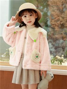 1+2=3童裝新款粉色外套