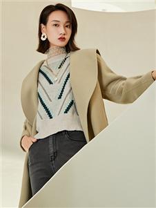 曼秀繽紛時尚新款呢大衣