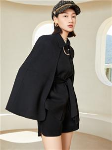 曼秀缤纷新款黑色外套