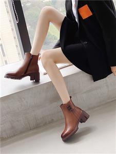 圣恩熙2021冬季新款皮靴