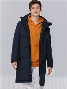2021喬治邦尼冬裝黑色羽絨服