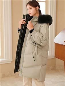 2021禹妃冬装时尚羽绒服