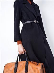 伊纳芙2021冬装新款呢大衣