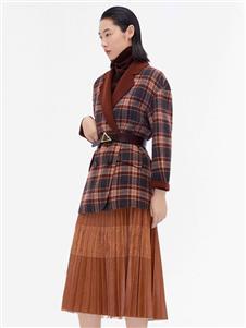 主提女装ZHUTI主提新款格子短大衣