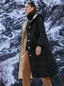 主提女装ZHUTI主提新款黑色羽绒服