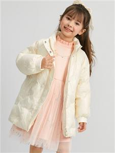 Deesha笛莎新款白色羽絨服